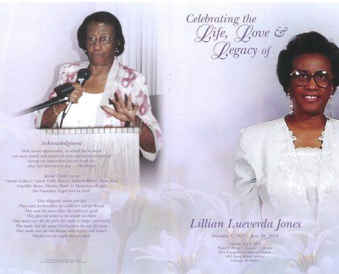 Lillian Lueverda Jones Obituary