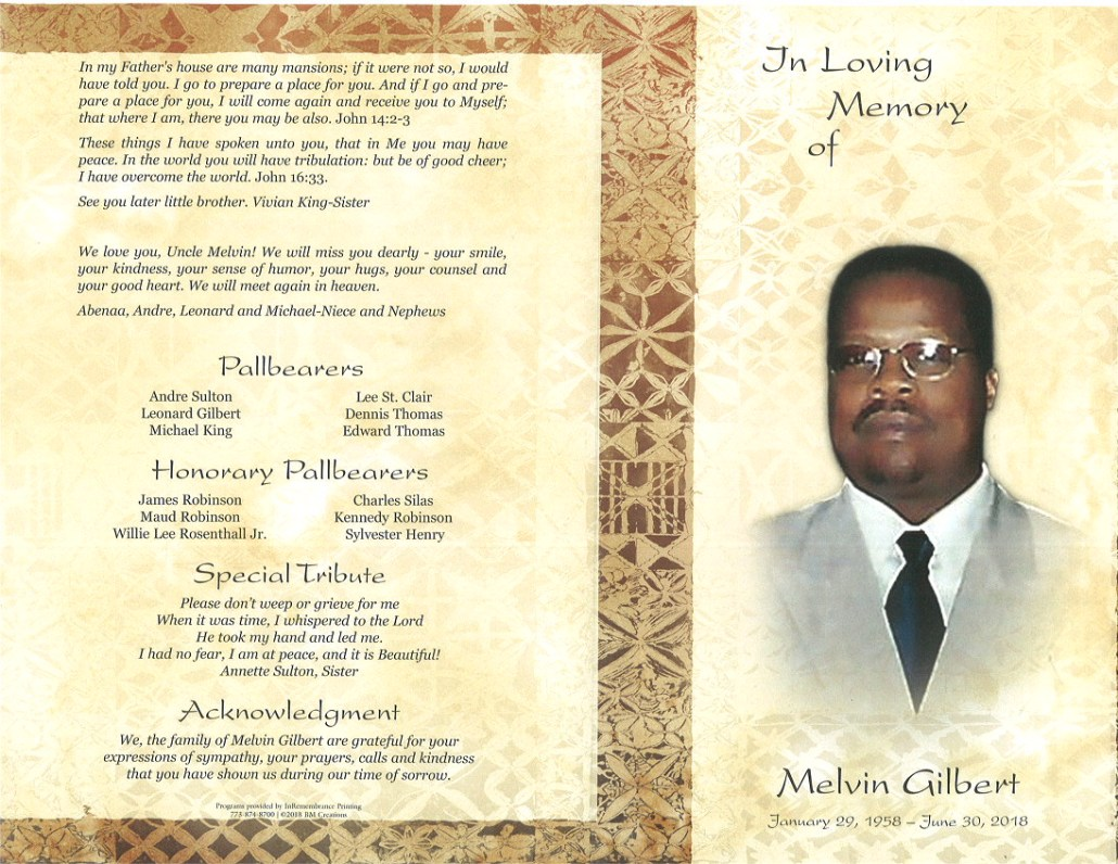 Melvin Gilbert Obituary