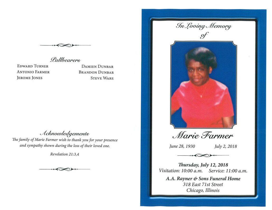 Marie Farmer Obituary