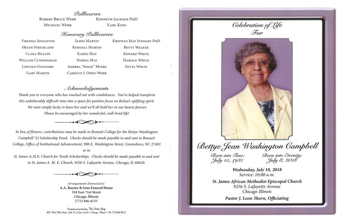 Bettye Jean Washington Campbell Obituary