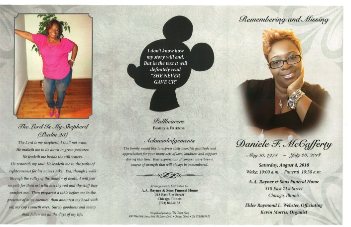 Daniele F McCafferty Obituary