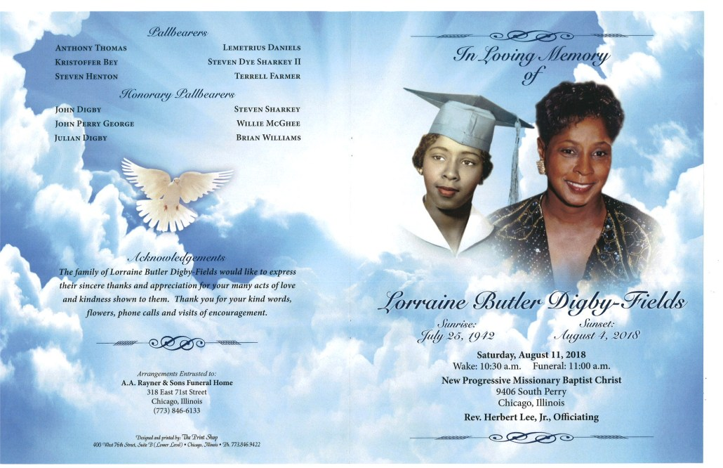 Lorraine Butler Digby Fields Obituary