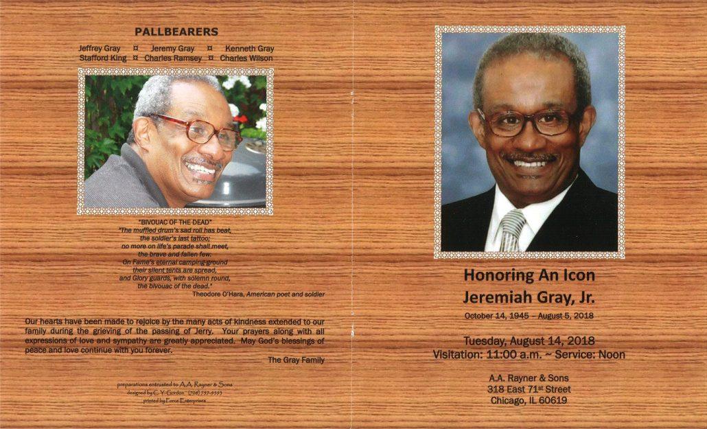 Jeremiah Gray Jr Obituary