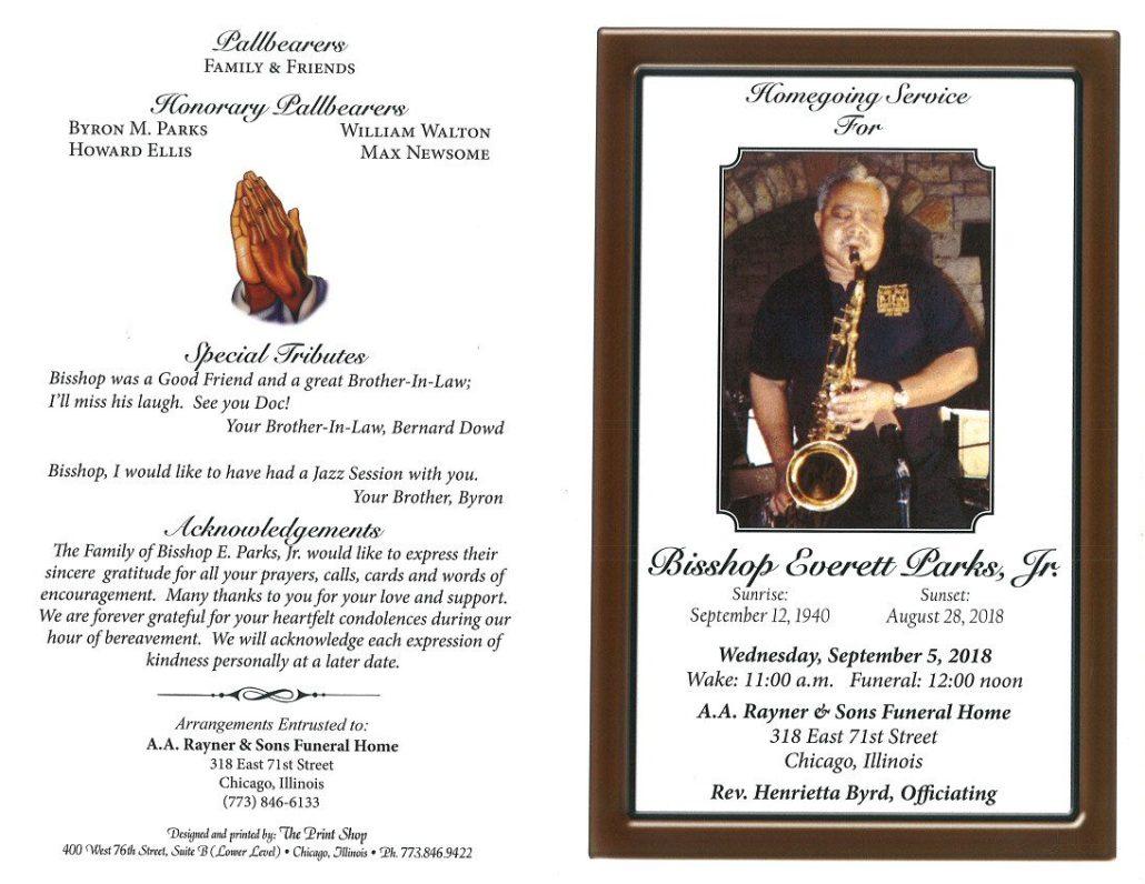 Bisshop Everett Parks Jr Obituary