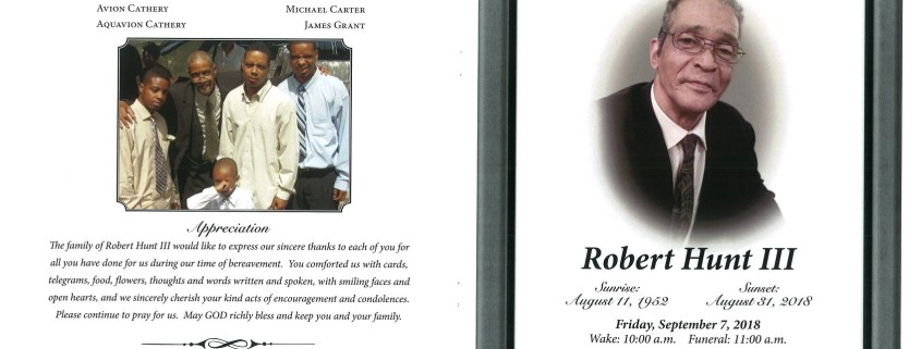 Robert Hunt III Obituary