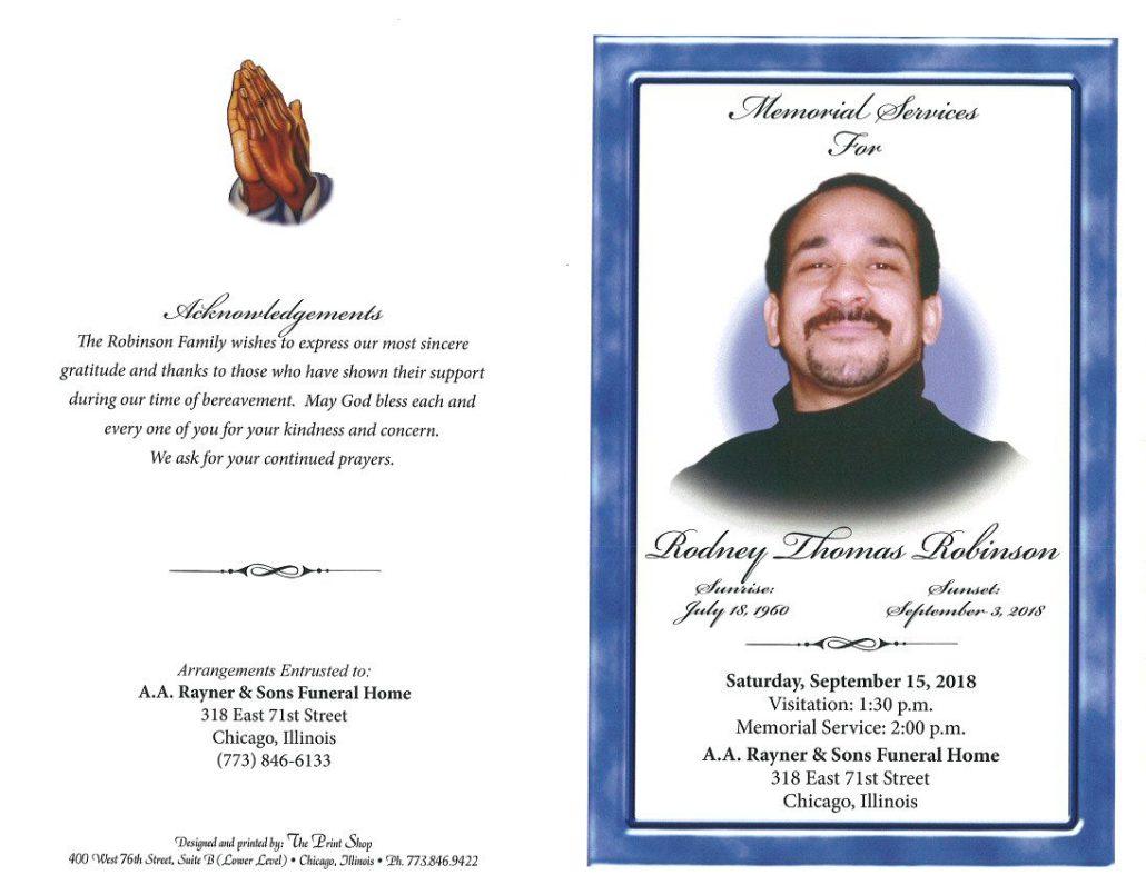 Rodney Thomas Robinson Obituary