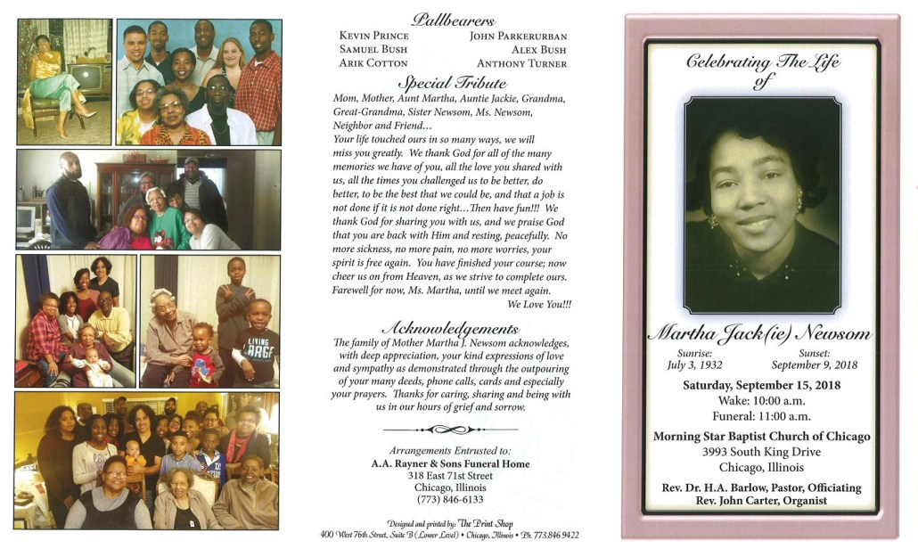 Martha Jackie Newsom Obituary