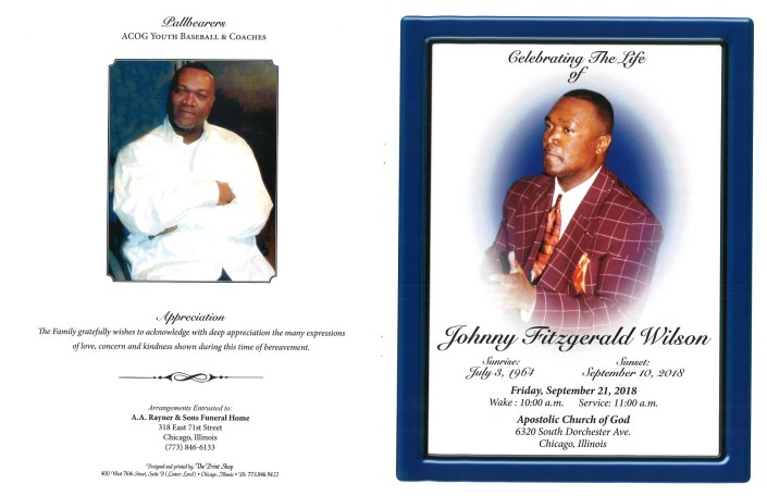 Johnny Fitzgerald Wilson Obituary