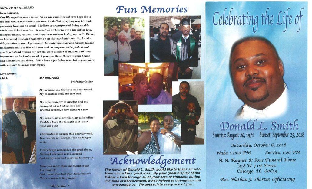 Donald L Smith Obituary