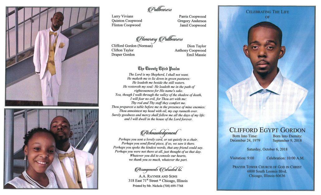 Clifford Egypt Gordon Obituary