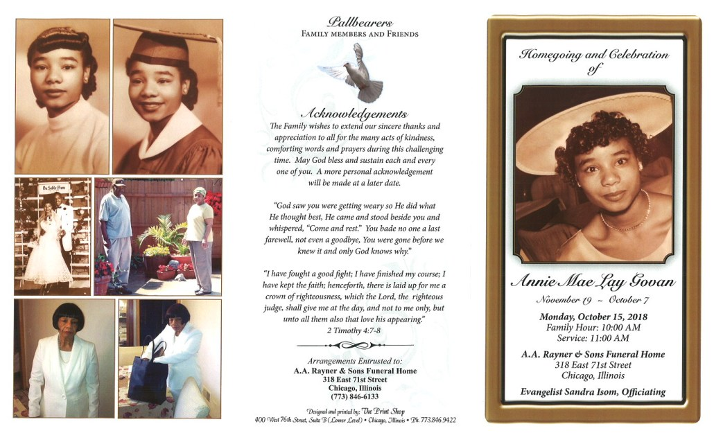 Annie Mae Lay Govan Obituary