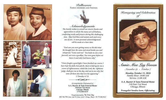 Annie Mae Lay Govan Obituary
