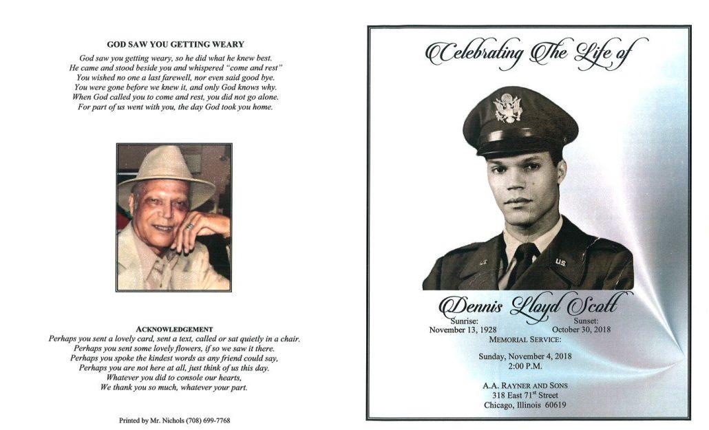 Dennis Lloyd Scott Obituary