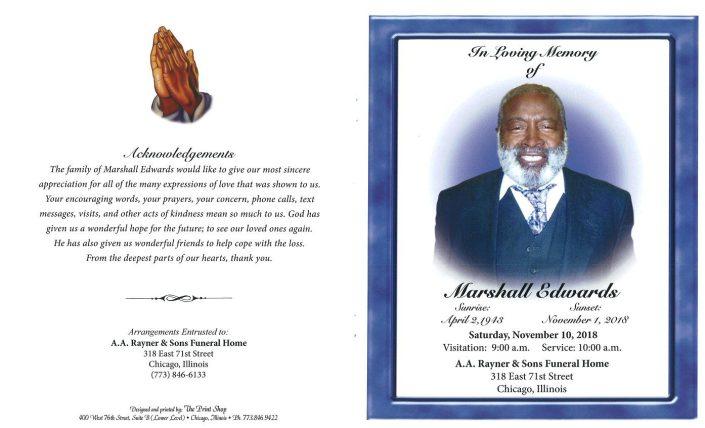 Marshall Edwards Obituary