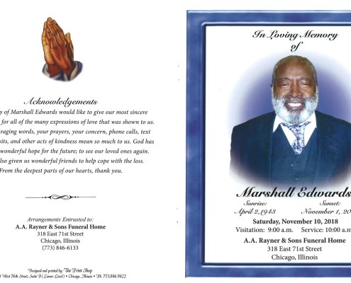 Marshall Edwards Obituary
