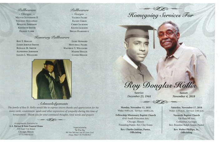 Roy Douglas Hollis Obituary