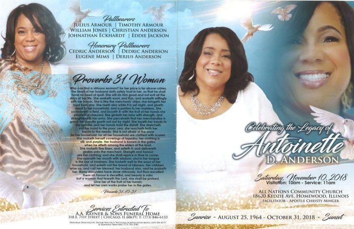 Antoinette D Anderson Obituary
