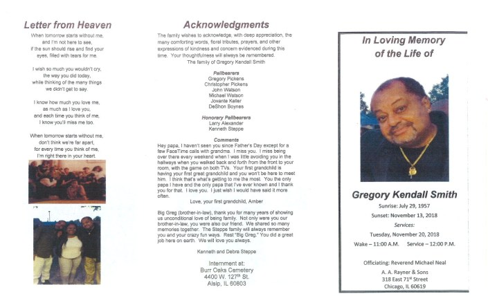 Gregory Kendall Smith Obituary