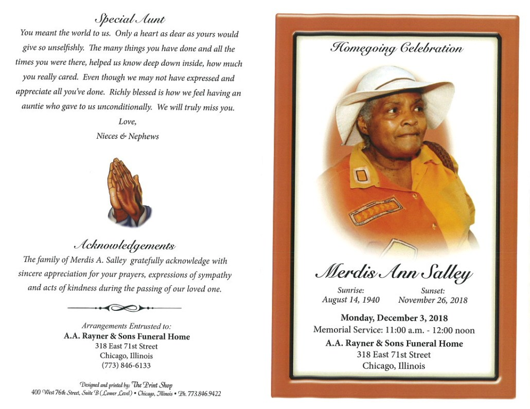 Merdis Ann Salley Obituary