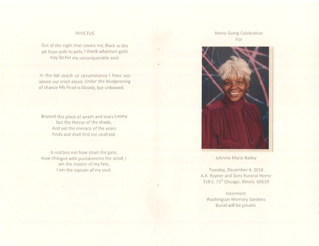 Johnnie Marie Bailey Obituary