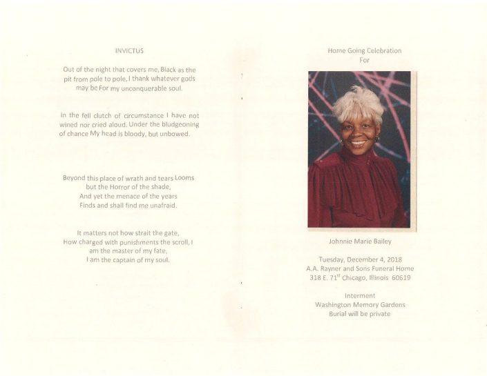 Johnnie Marie Bailey Obituary