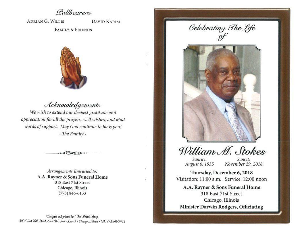William M Stokes Obituary