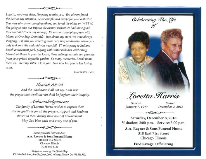 Loretta Harris Obituary