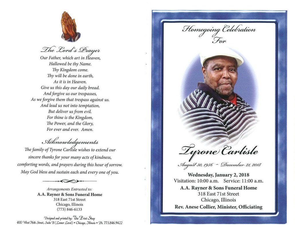 Tyrone Carlisle Obituary