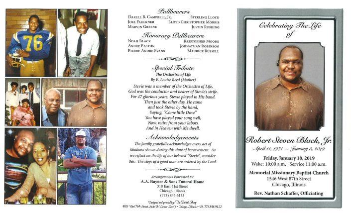 Robert Steven Black Jr Obituary