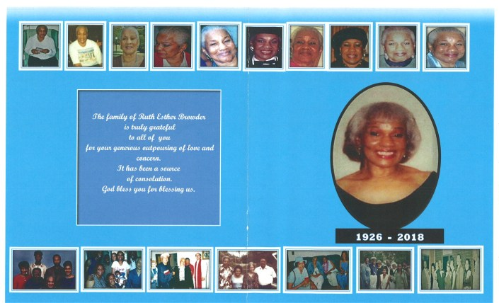 Ruth Esther Browder Obituary