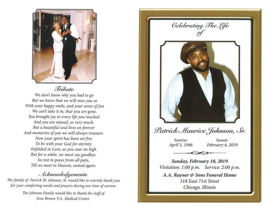 Patrick Maurice Johnson Sr Obituary