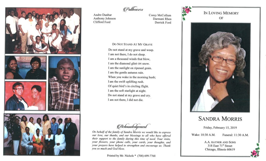 Sandra Morris Obituary