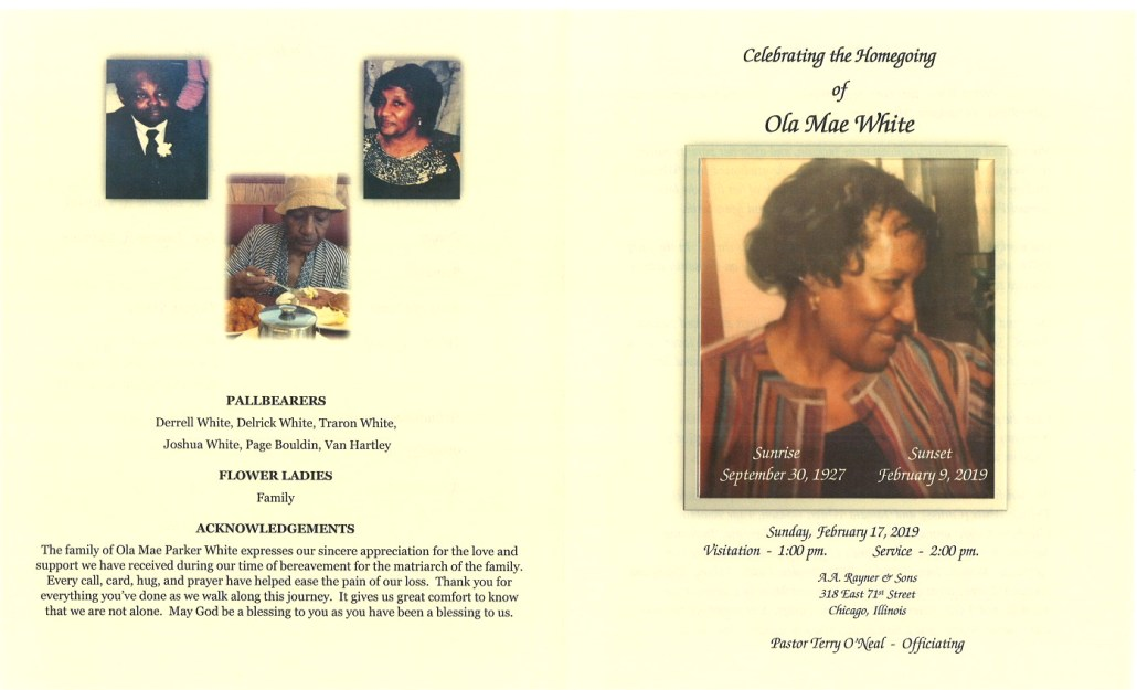 Ola Mae White Obituary