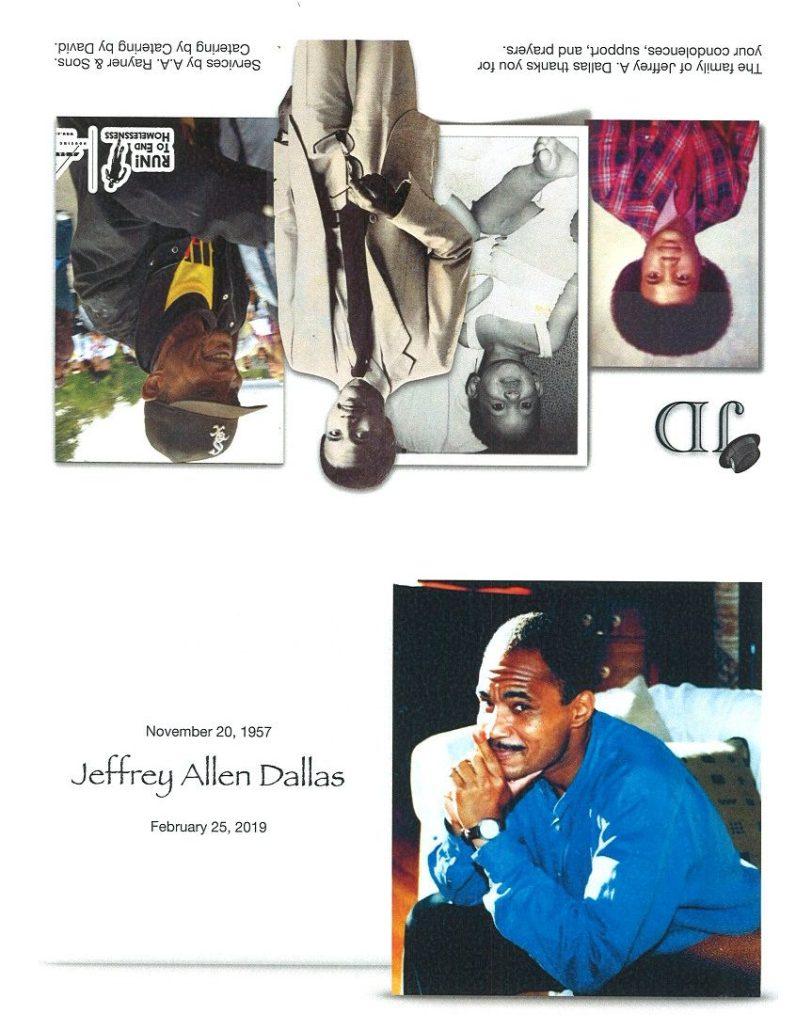 Jeffrey Allen Dallas Obituary