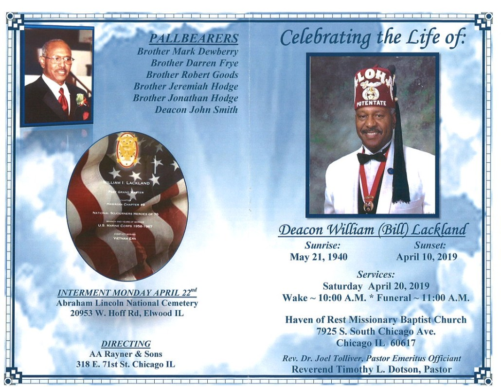 Deacon William Bill Lackland Obituary