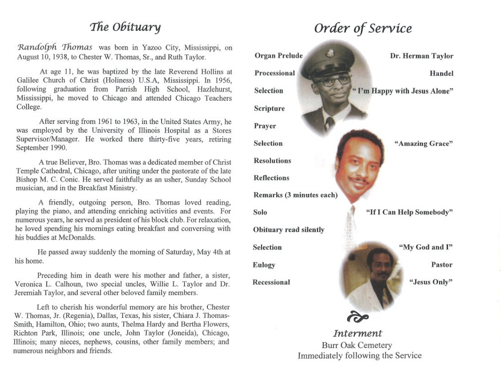 Randolph Thomas Obituary