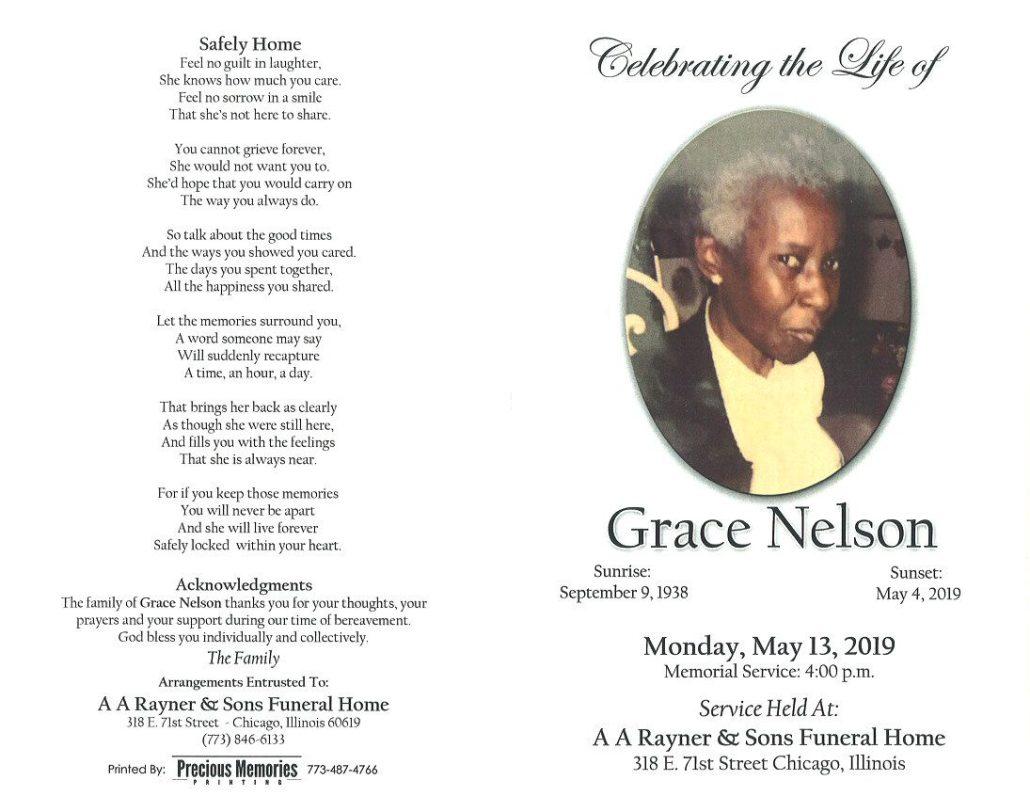 Grace Nelson Obituary