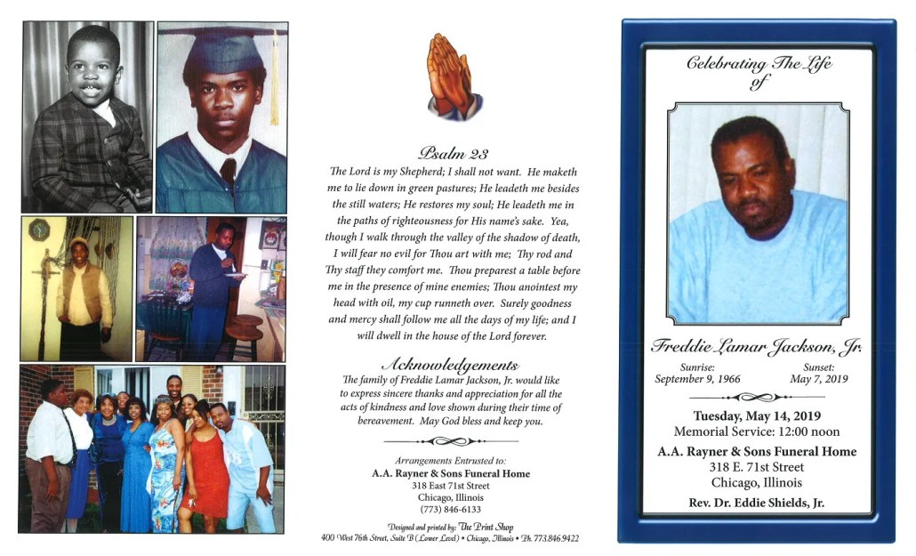 Freddie Jackson Jr Obituary