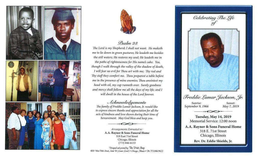 Freddie Jackson Jr Obituary