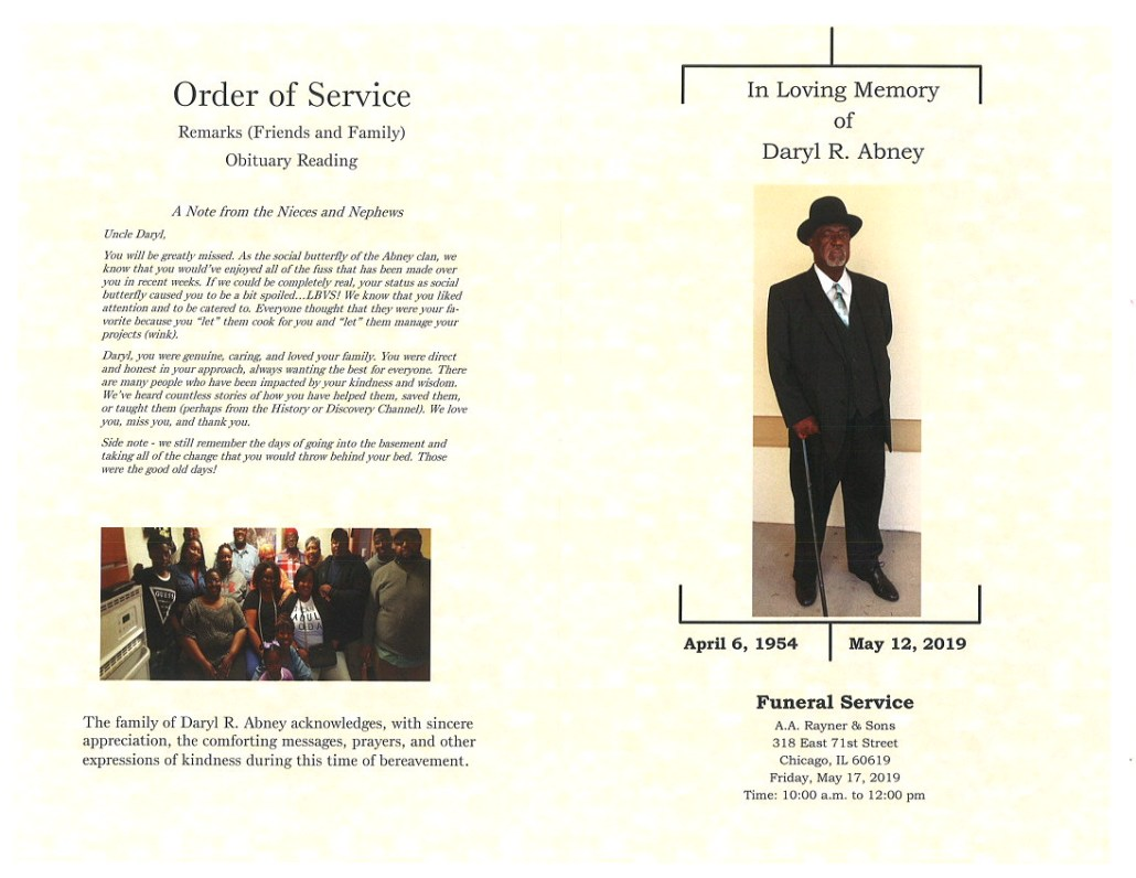 Daryl R Abney Obituary