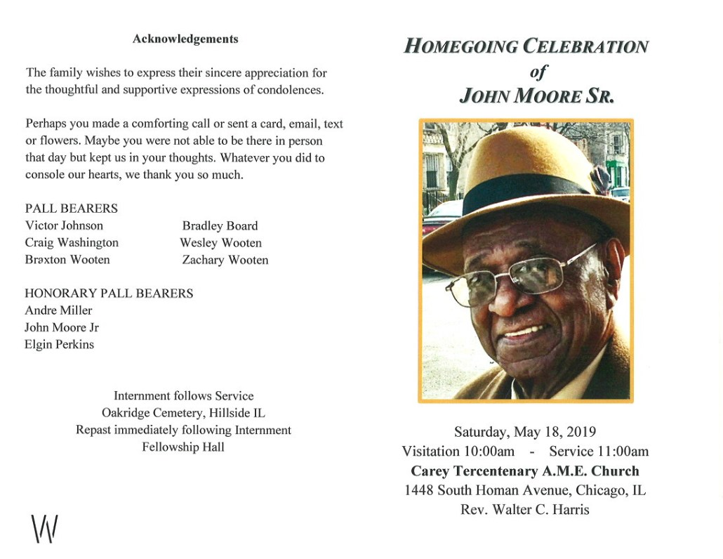 John Moore Sr Obituary
