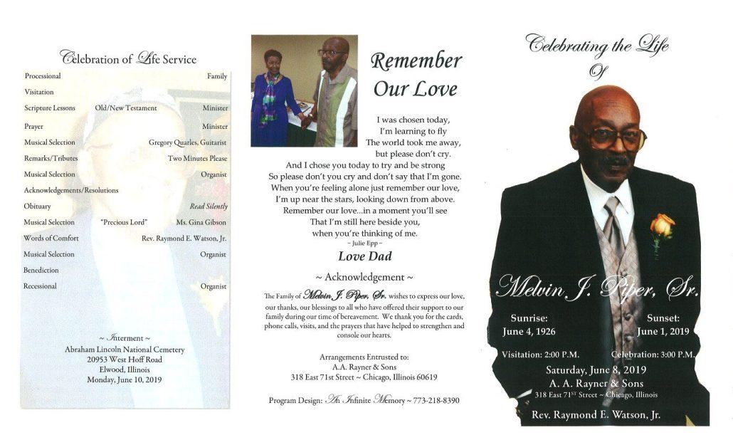 Melvin Piper Sr Obituary