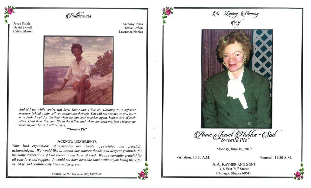 Anne Jewel Nobles Sail Obituary
