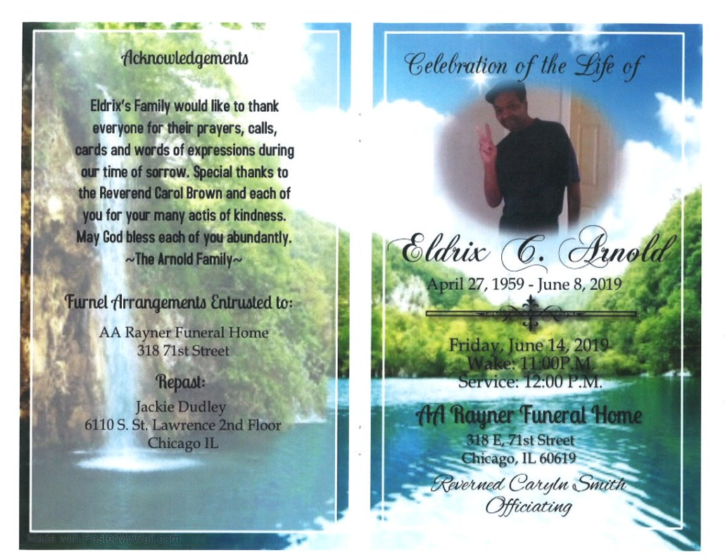 Eldrix C Arnold Obituary