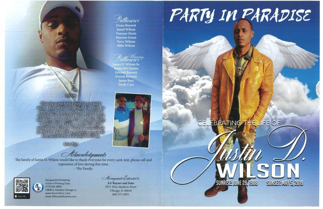 Justin D WIlson Obituary
