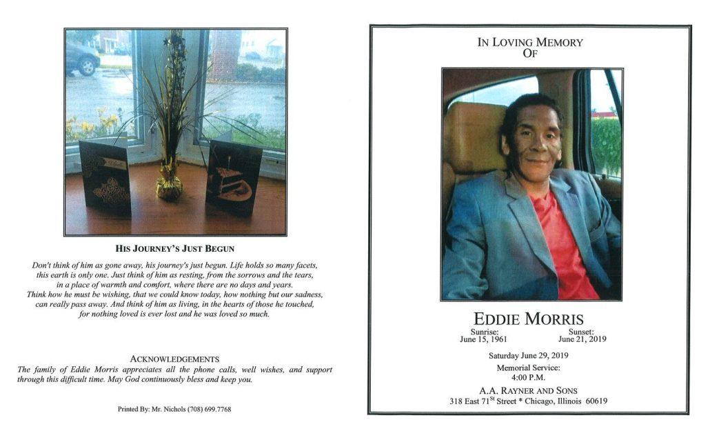 Eddie Morris Obituary