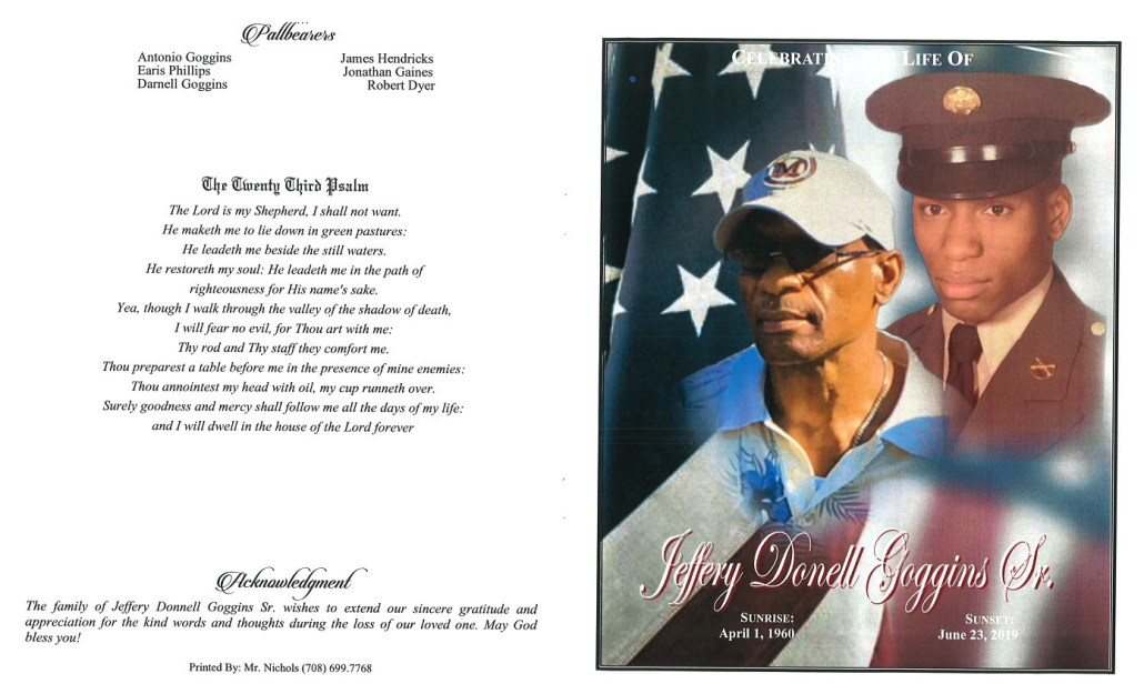 Jeffery D Goggins Sr Obituary