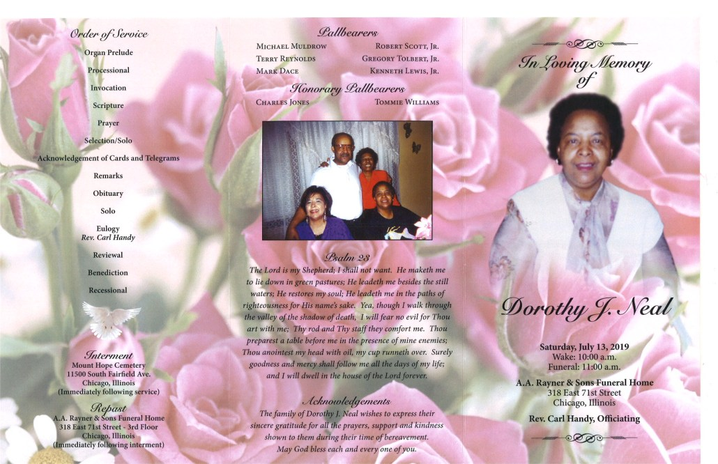 Dorothy J Neal Obituary