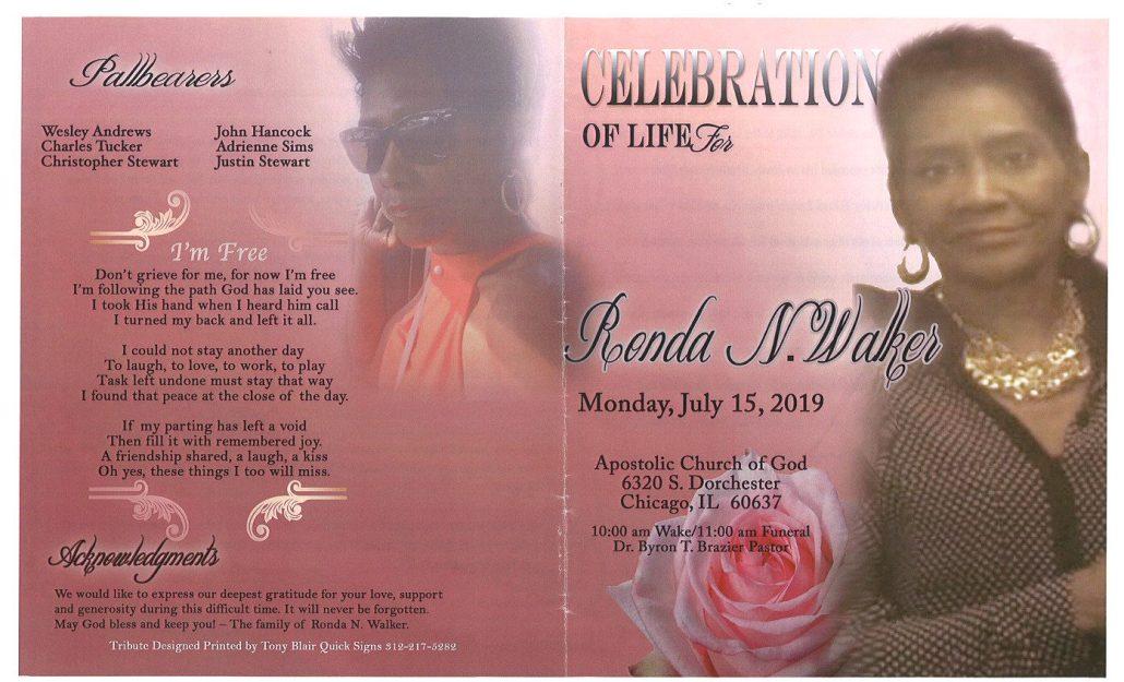 Ronda N Walker Obituary