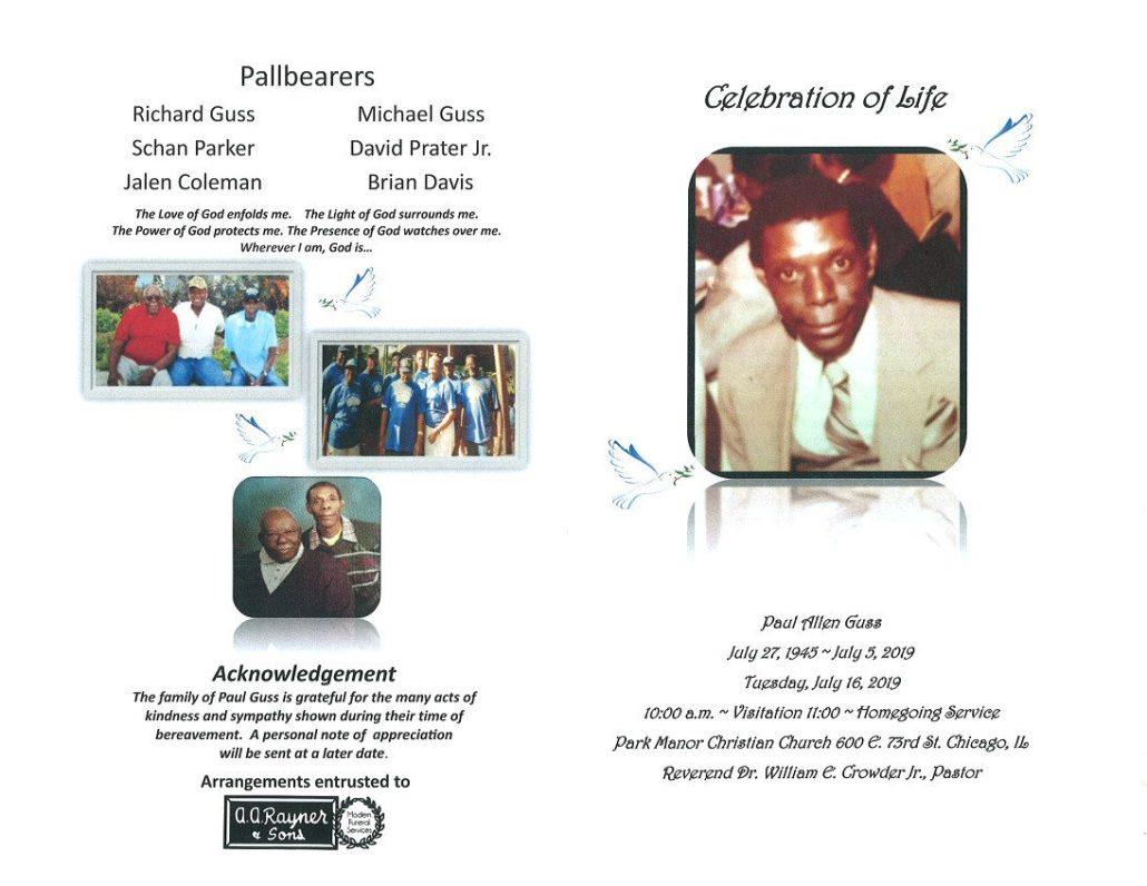 Paul Allen Guss Obituary